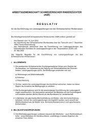 Regulativ ASR - Swissherdbook