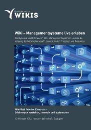 Wiki – Managementsysteme live erleben - Qualitäts - Coaching