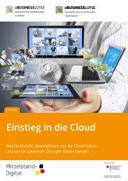 Leitfaden Einstieg in die Cloud - beim eBusiness-Lotsen Ruhr