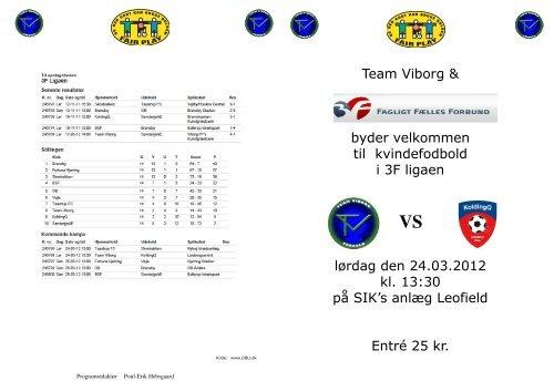 Team Viborg & byder velkommen til kvindefodbold i 3F ligaen ... - DBU