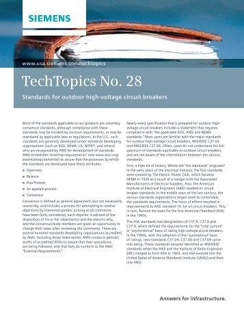 TechTopics No. 28 Standards for outdoor high-voltage ... - Siemens