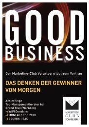 das denken der gewinner von morgen - Marketing Club Vorarlberg