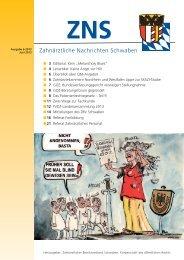 ZNS Ausgabe 6/2013 ist online - Zahnärztlicher Bezirksverband ...