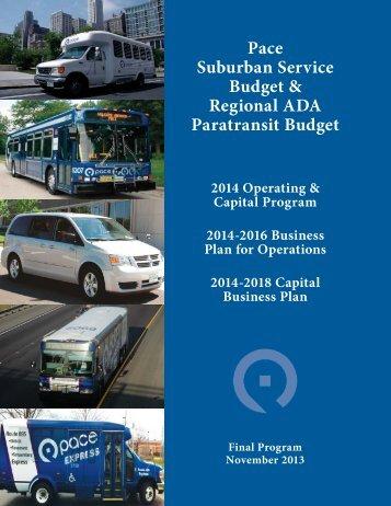 Final 2014 Budget - Pace