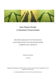 Sans-Papiers-Kinder in Schweizer Primarschulen