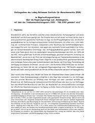 Stellungnahme TKG-Novelle 2007 - Ludwig Boltzmann Institut für ...