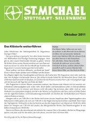 Oktober 2011 - Katholische Kirchengemeinde St. Michael, Sillenbuch