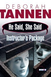 Tannen Study Guide - Educational Video Group, Inc.