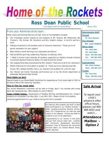 Attendance Mailbox - Option 2 - Ross Doan Public School