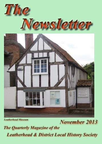 Please click here for the November 2013 Newsletter - Leatherhead ...