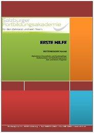 ERSTE HILFE - Salzburger Fortbildungsakademie