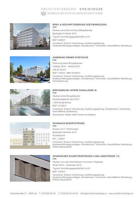 Projektverzeichnis - ARCHITEKT KNEIDINGER