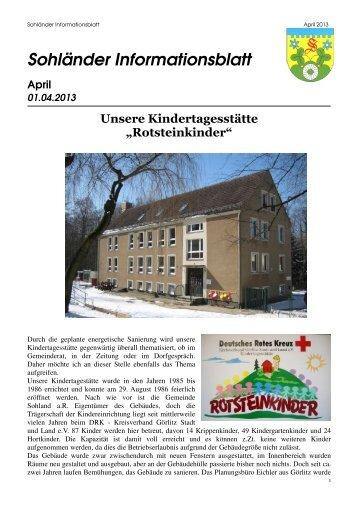 Infoblatt April 2013 - Uwe Hanisch