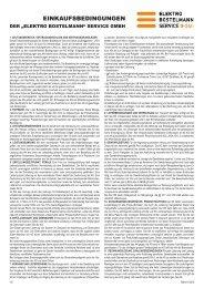 EINKAUFSBEDINGUNGEN - Elektro Bostelmann Service GmbH