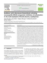 Backbone cyclic pheromone biosynthesis activating neuropeptide ...
