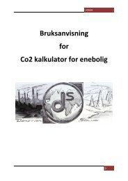 Bruksanvisning for Co2 kalkulator for enebolig