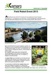 Bericht Field Robot Event 2013 - BECK Kabel