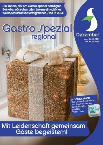 Gastro Spezial Regional - Dezember 2013 - Recker Feinkost GmbH