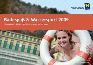 Badespaß & Wassersport 2009 - Niederösterreich