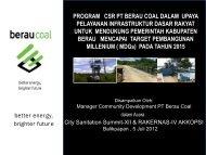 Program CSR PT BERAU COAL