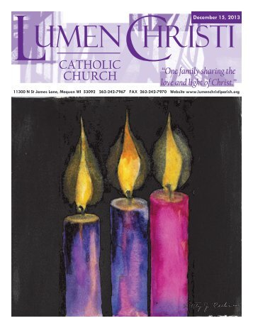 December 15, 2013 - Lumen Christi Parish