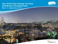 Konzept und seine Einbettung in EnergieSchweiz - Smart City