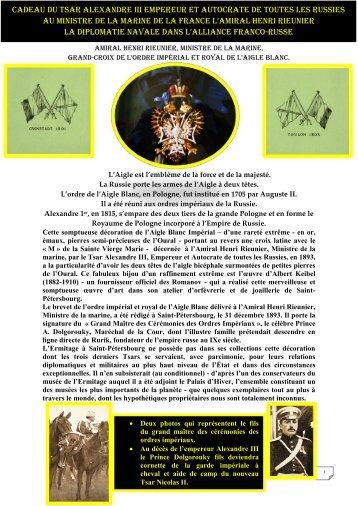 Cadeau du tsar Alexandre iii empereur et autocrate de toutes les ...