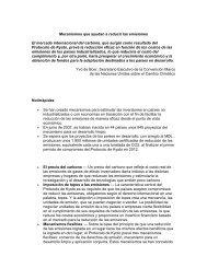 Mecanismos que ayudan a reducir las emisiones El mercado ... - CINU