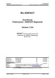 EDIFACT-Segmente - DAKOSY Datenkommunikationssystem AG