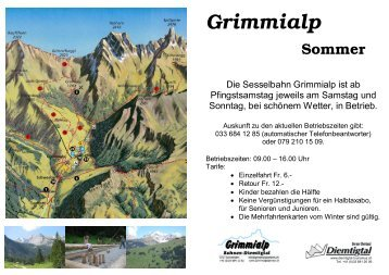 Grimmialp Sommer