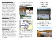 Des Moines River Water Trail Brochure - Villages of Van Buren