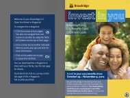 Broadridge's 2013 U.S. Benefits Open Enrollment Guide
