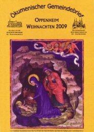 Ökumenischer Gemeindebrief Advent 2009 - Evangelische ...