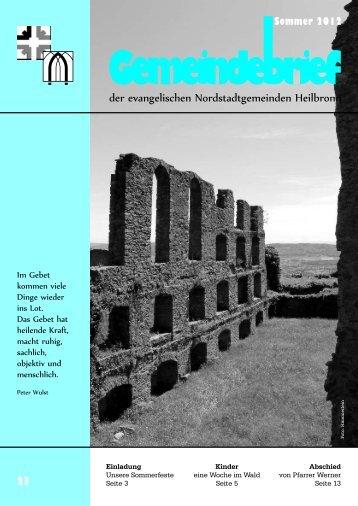 Download Gemeindebrief Sommer 2012 - Evangelische ...