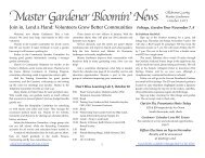 October - Oklahoma Master Gardener Program - Oklahoma State ...