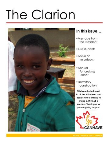 Vol 12(2) - CANHAVE Children's Centre