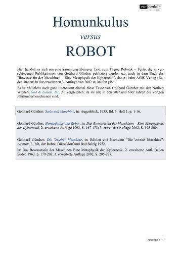 Homunkulus und Robot