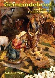 Gemeindebrief Advent 2012 - St. Josef Haßlinghausen