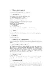 1 Allgemeine Angaben - Institut für Informatik - Universität Paderborn