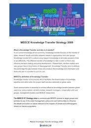 MEECE Knowledge Transfer Strategy 2009