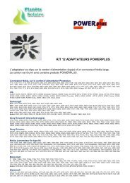 KIT 12 ADAPTATEURS POWERPLUS - Planete solaire