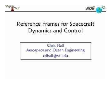 Reference Frames for Spacecraft Dynamics and Control