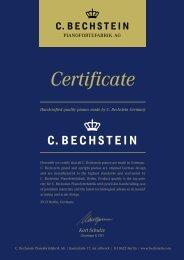 Certificate - Piano