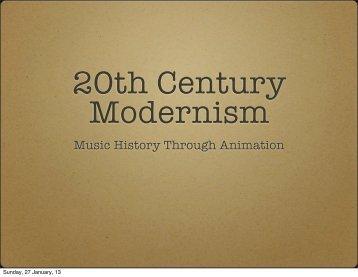 20th CENTURY MODERNISM