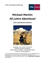 Michael Martin: 30 Jahre Abenteuer - Sparkasse Gladbeck