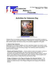 Activities for Veterans Day - US Department of Veterans Affairs
