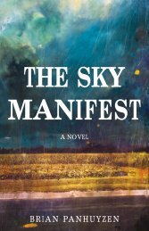 Read an excerpt from The Sky Manifest - ECW Press