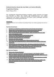 Niedersächsisches Gesetz über das Halten von ... - Niedersachsen