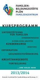 KURSPROGRAMM 2013/2014 - Familienbildungsstätte Plön