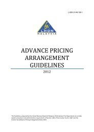 advance pricing arrangement guidelines - Lembaga Hasil Dalam ...